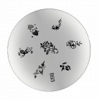 B93 - Stamping disc with engraved flowers