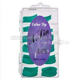 Blue Green Coloured Nail Tips, Box - 110pcs, No.0-10