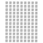 Silver self-adhesive sticker - 3D antique pattern