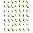 Sticker 3D, gold - YVES SAINT LAURENT logo