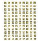 Antique pattern - stickers 3D, gold