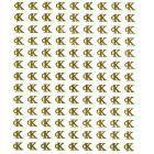Gold 3D stickers, CALVIN KLEIN logo