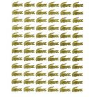 Stickers 3D - gold symbol of LACOSTE