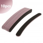 10pcs pack - Black sanding file - banana shape, pink centre, 100/180