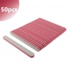 50pcs pack - Nail file with red double centre, zebra - 80/80