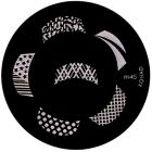 Nail stamping plate m45 - various motifs