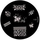 Nail stamping plate m50 - various shapes