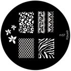 Template for nail stamping m57 - various motifs