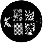Metal plate for nail art stamping, m64