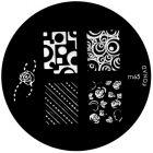 Nail stamping plate m65 - various motifs