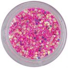 Holographic hexagon in dust powder - deep pink, 1mm