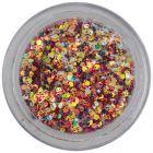 Holographic hexagons - 1mm confetti in dark red powder