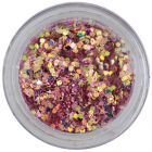 1mm confetti with reflective effect - hexagons in vintage pink dust powder