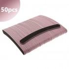 50pcs - Nail file 80/80 - banana shape, black with pink centre