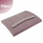 50pcs - Nail file banana shape - zebra 100/180, pink centre