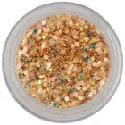 Hexagon in dust powder - rich golden colour 1mm
