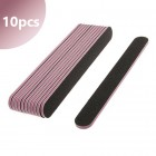 10pcs - Black sanding file with pink centre, 100/180 - straight