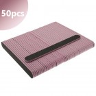 50pcs - Nail file 100/180 - straight, black with pink centre