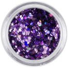 1,5mm hologram sequins - purple hexagons