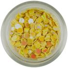 Banana yellow hexagons with reflective effect - 3mm