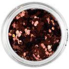 1mm decorative confetti - hexagons in the colour of copper