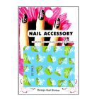 Green water decals with Christmas motif