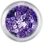 Hologram Square - Light Purple Nail Art Decoration with Hole