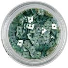 Hologram Confetti with Hole - Steel Blue Squares