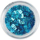 Hologram Confetti with Hole - Turquoise Blue Squares