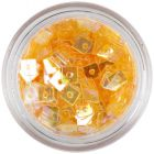 Transparent Confetti with Hole - Orange Squares