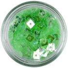 Transparent Confetti with Hole - Light Green Squares