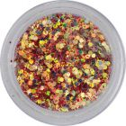 Colourful confetti, 1mm - hexagons in red dust powder