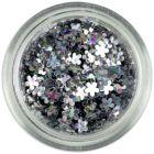 Small flower confetti – silver, hologram