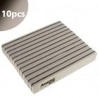 10pcs - Nail file Profi Sponge Jumbo Zebra - black centre, 220/280