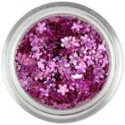 Small flower confetti – old pink, hologram