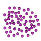 Nail art decorations 2mm - 90pcs round rhinestones in sack, purple