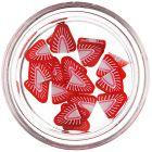 Fimo nail decorations - cut strawberry