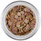 Flitters - beige, violet stripes