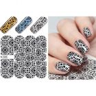 Luxurious water decals – Black & White Circles