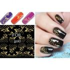 Luxurious water decals – Gold Checkered Leaves