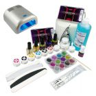 3-phase system - kit for gel nails, 36W silver UV lamp