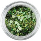 Flitters - olive green, hologram
