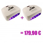 2 x white LED UV lamp - 66W