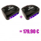 2 x black LED UV lamp - 66W