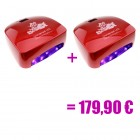 2 x red LED UV lamp - 66W