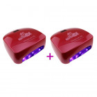 2 x Pink-red LED UV lamp for nails - 66W