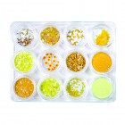 Nail art kit 12pcs - yellow colour