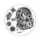 Nail art stamping plate - JQ-22