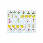 Nail art stickers with Christmas motif - 039