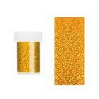 Decorative nail foil - gold with holographic reflections in circle shapes